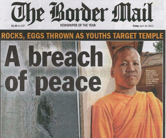 Youths Target Temple
